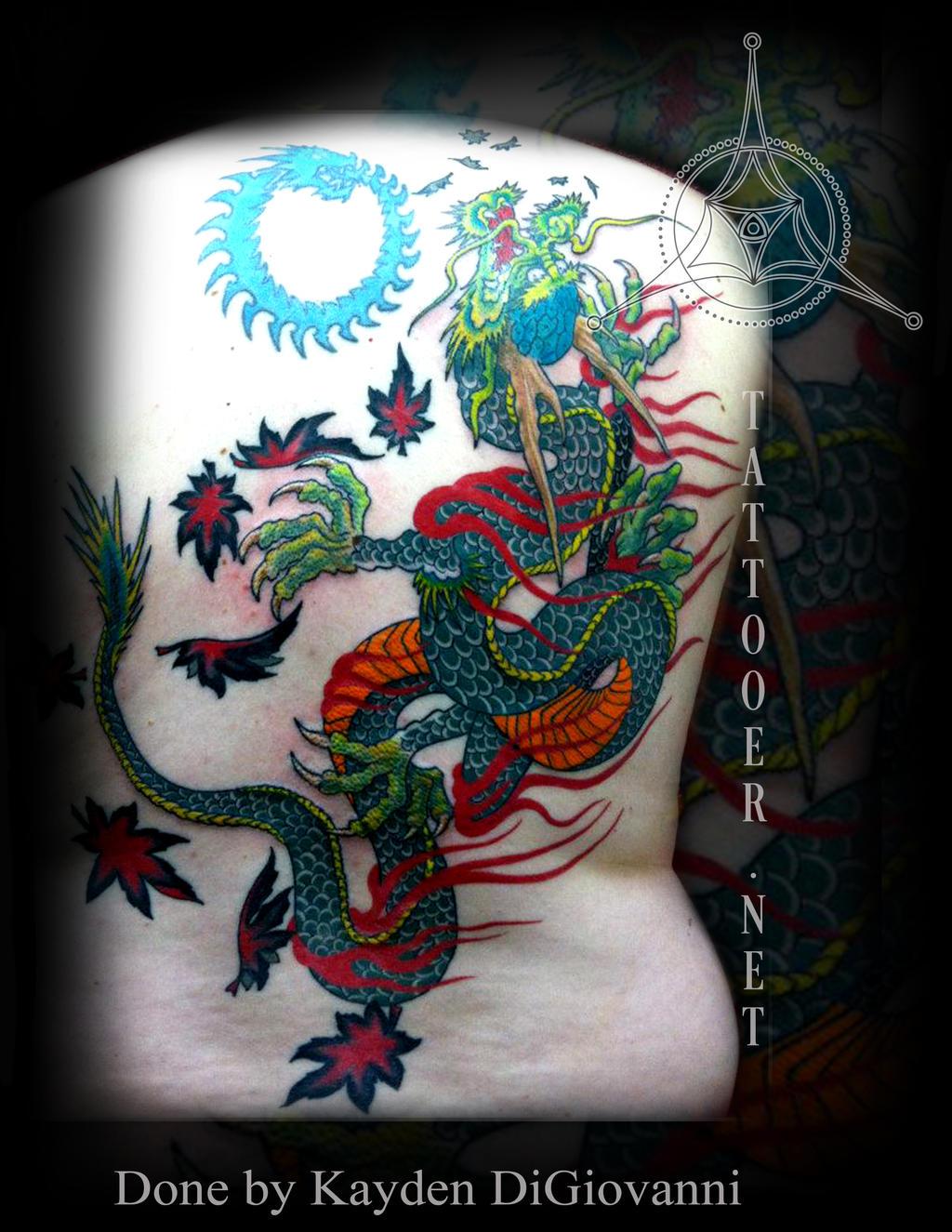 Japanese Dragon Backpiece 3 by kayden7
