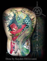 Kintaro Koi Backpiece tattoo by kayden7