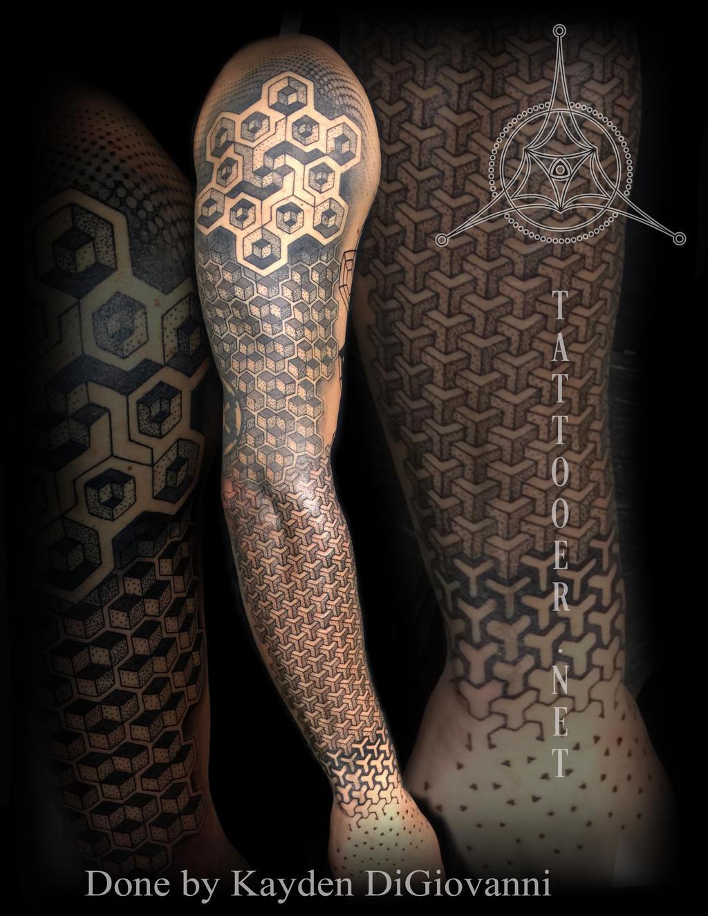 Dallas Tattoo Geometric dotwork by kayden7