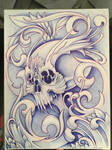 Filigree Skull by kayden7