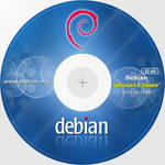 Debian 6 CD-DVD Label 32 bit 300dpi