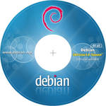 Debian 6 CD-DVD Label 64 bit 300dpi by MiroZarta