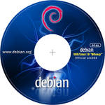 Debian 7 CD-DVD Label 64 bit 300dpi by MiroZarta