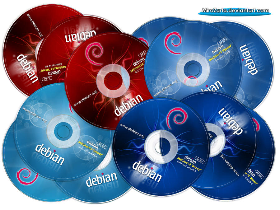 Debian Squeeze and Wheezy Labels CD-DVD