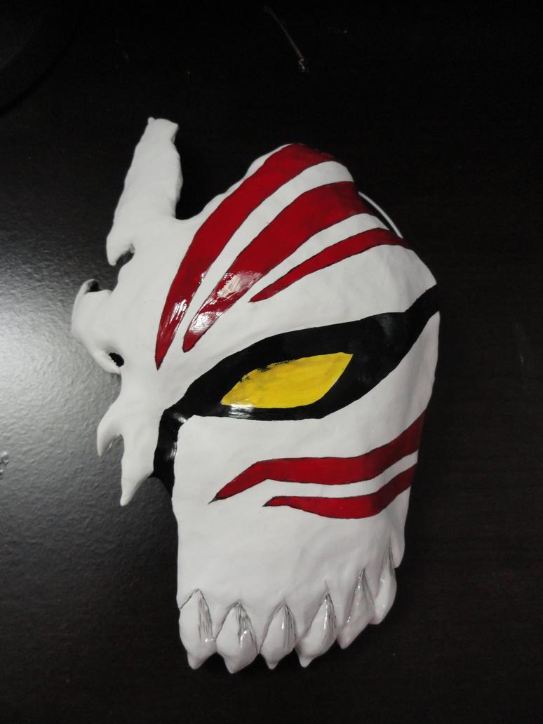 Ichigo 39 s hollow mask by tntdrummer on deviantart - Ichigo vizard mask ...