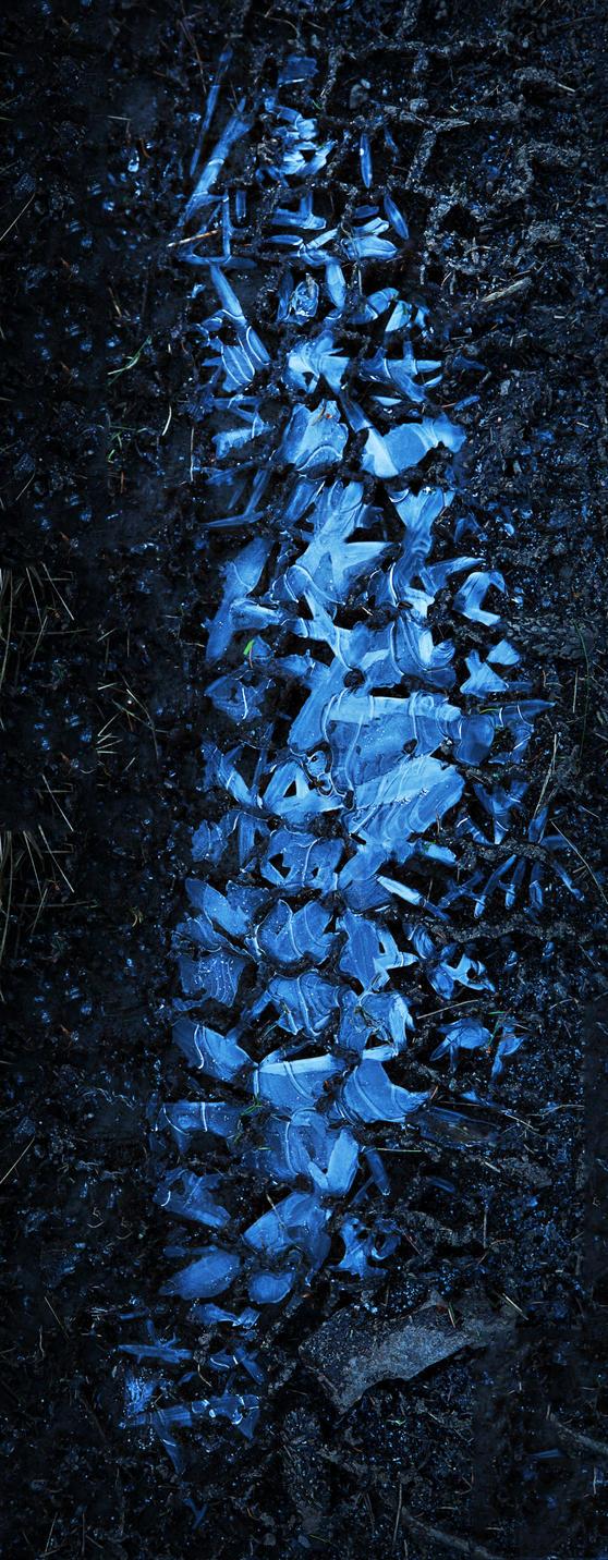 Icy Footprint by AneurysmGuy