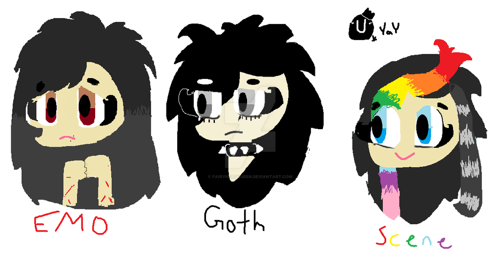 How are goths and emos defined?