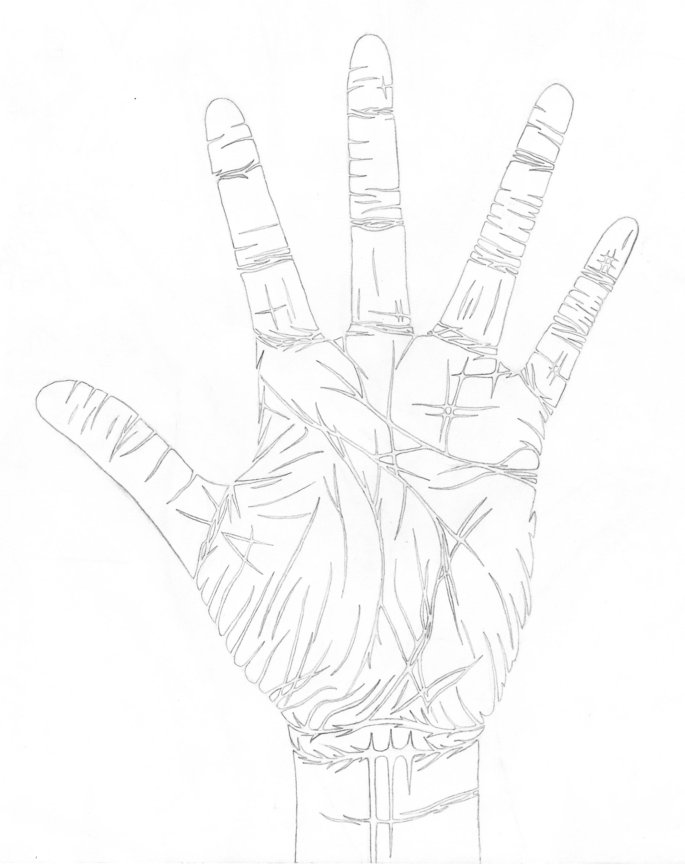 hand outline by chaosxm7