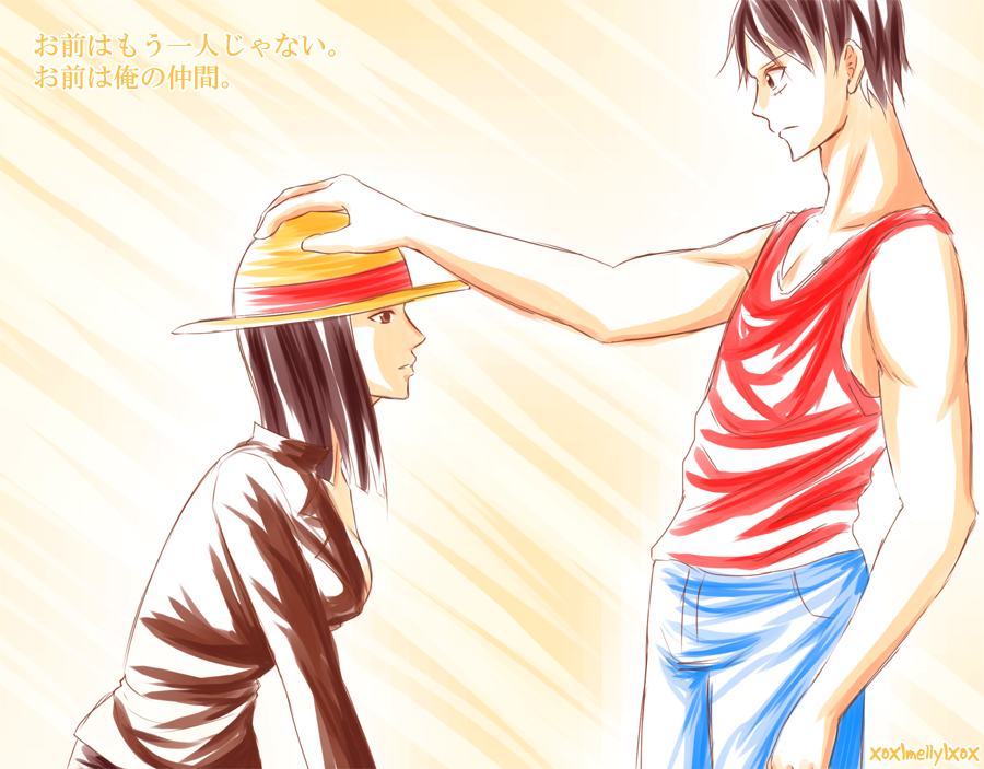 Luffy and robin love the image kid has it - One piece luffy x robin ...