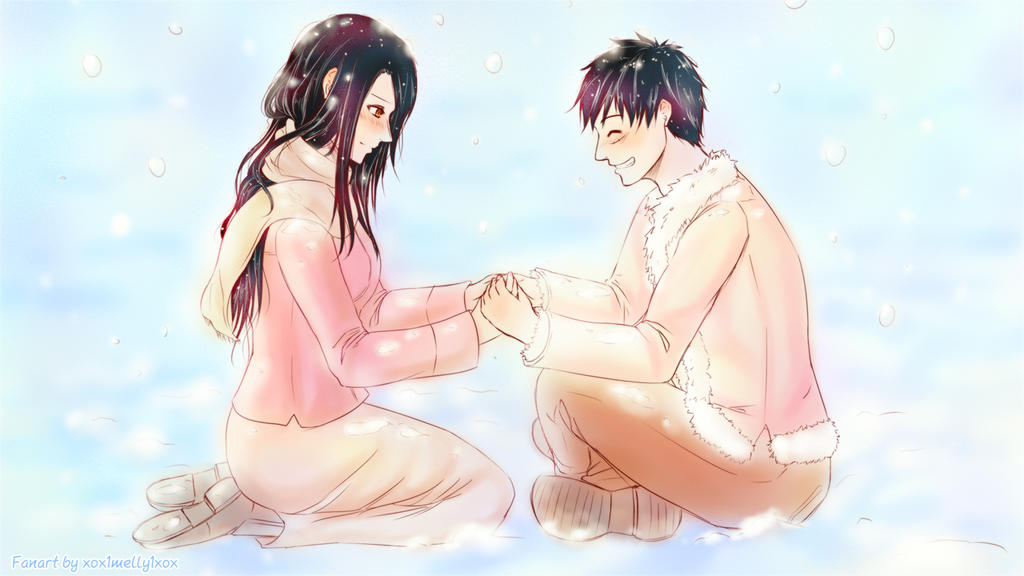Luffy + Robin - Winter Warmth by xox1melly1xox