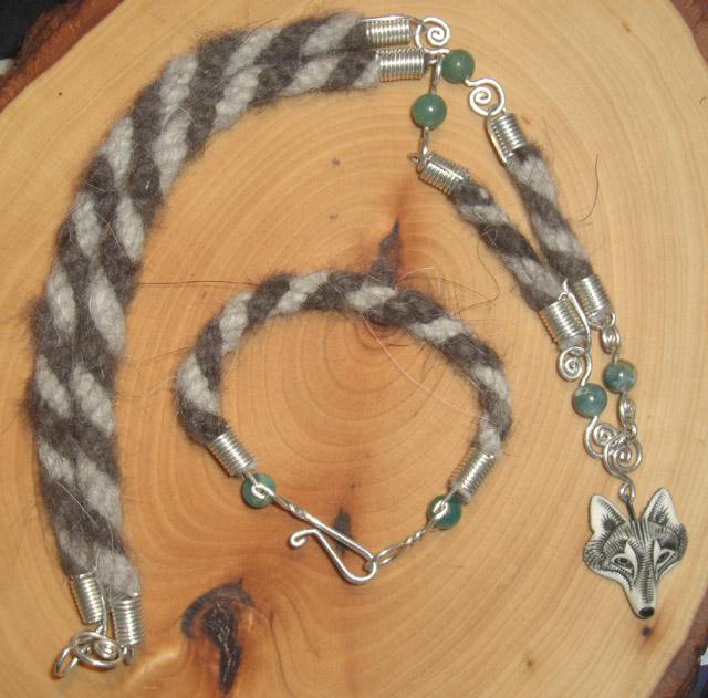 WildSpiritWolf Jewelry Set by Wolf-of-Samhain