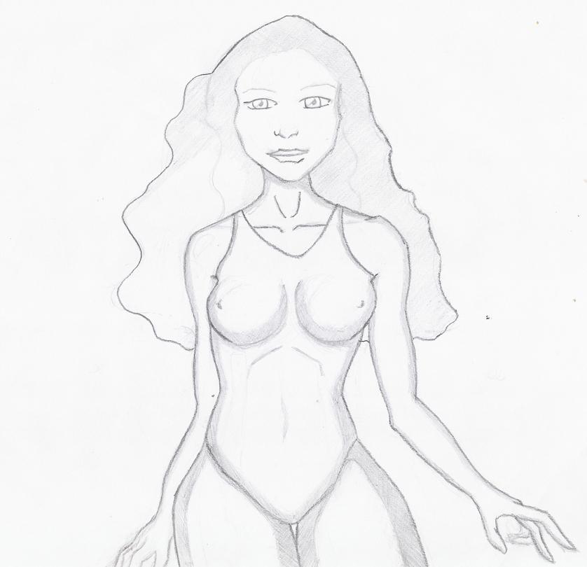 Woman Cartoon Drawing Woman Pencil Cartoon 4 by