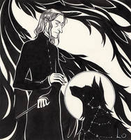 Severus and Sirius by paranoiac-lo