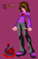 [KOF XIII style sprite] Pain in my heart by michelle-bandi-wolf