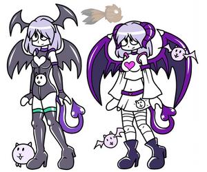 [Battle Cats Unit] Demon Girl Cat by michelle-bandi-wolf