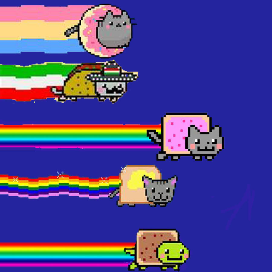 Nyan Dog And Nyan Cat