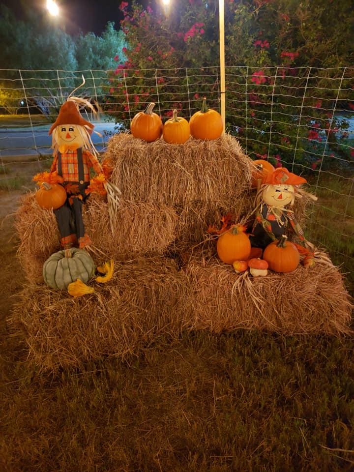 A pumpkin patch photobooth