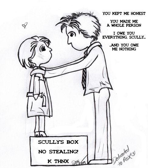 Sculder Doodle by Silraen