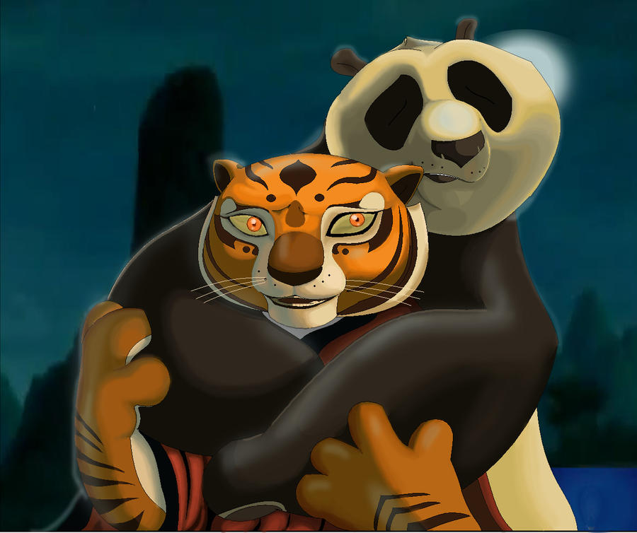 Kung Fu Panda Po And Tigress By Rocio Aj On Deviantart