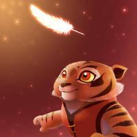 Sweet moment, tigress cub by Rocio-Aj