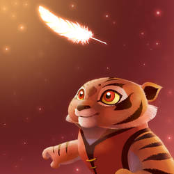 Sweet moment, tigress cub