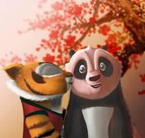 Cub Kiss-Po and Tigress