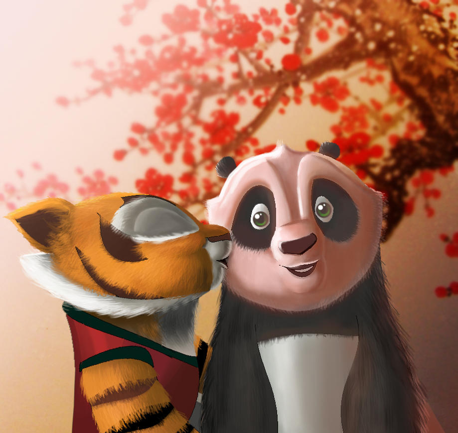 Cub Kiss-Po and Tigress by Rocio-Aj on DeviantArt