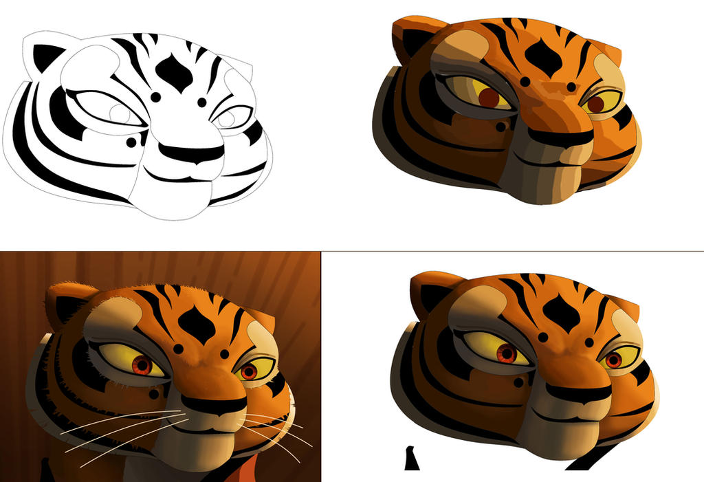 tigresa proceso de dibujo by Rocio-Aj on DeviantArt