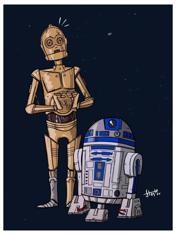 Threepio and Artoo by stayte-of-the-art