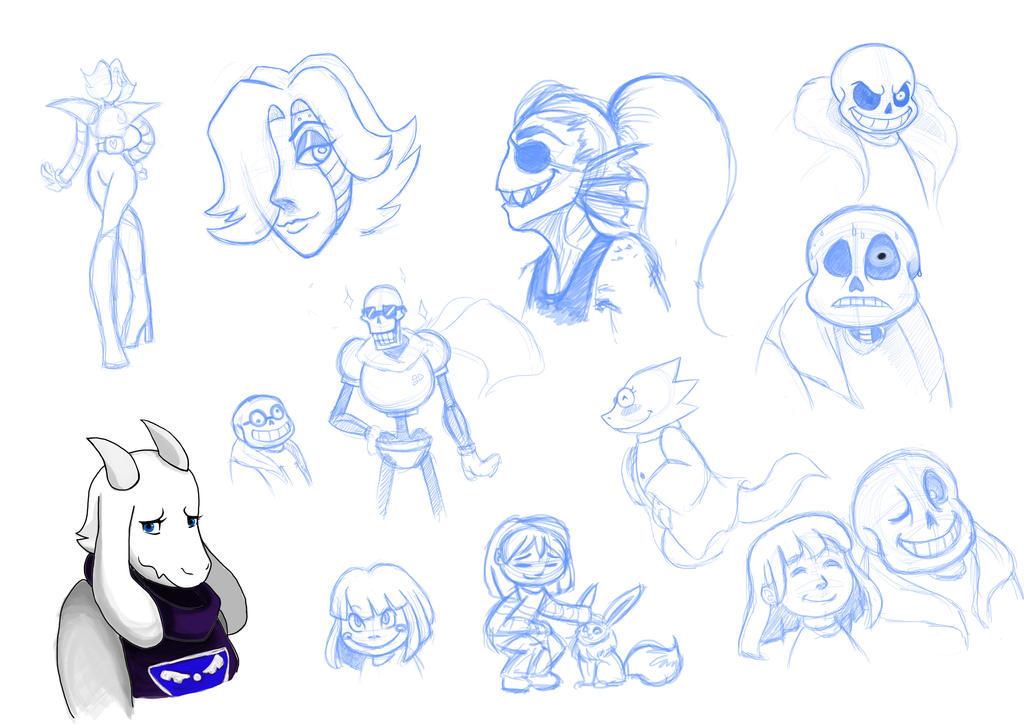Undertale Doodles By GameMaster14 On DeviantArt