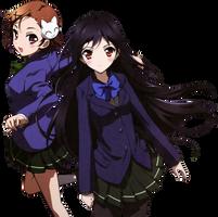 Accel World Chiyu and Kuroyukihime render by joanah009