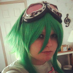 Gumi: Wig and Goggles test by MouhisTea