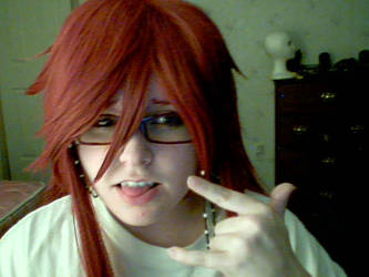 Grell Sutcliff Makeup Test by MouhisTea
