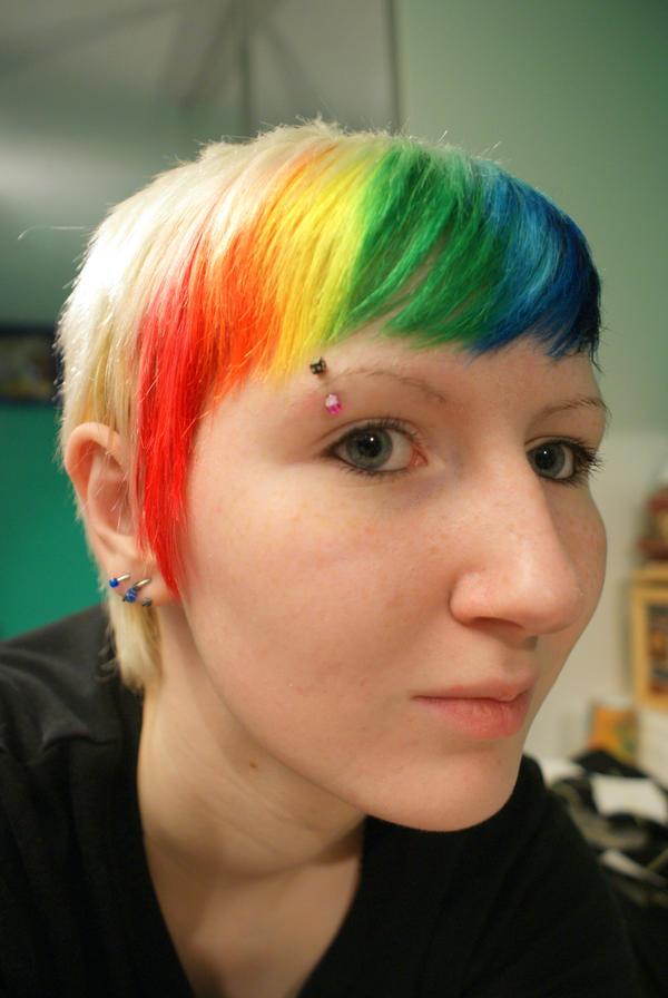rainbow hair 2 by NeonFlamingo