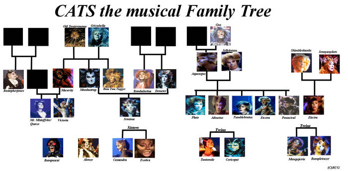 CATS The Musical family tree
