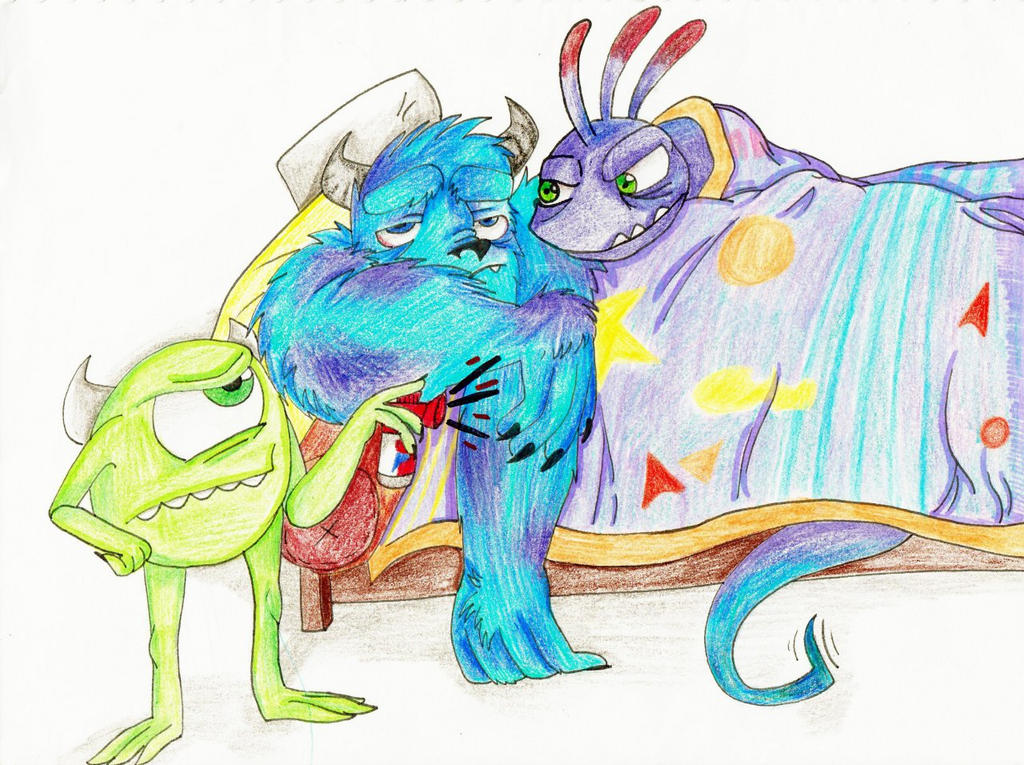 Differences Between Mike Sully And Randall From Monsters Inc: Forced Morning Birds By Toxic-dolls On DeviantArt