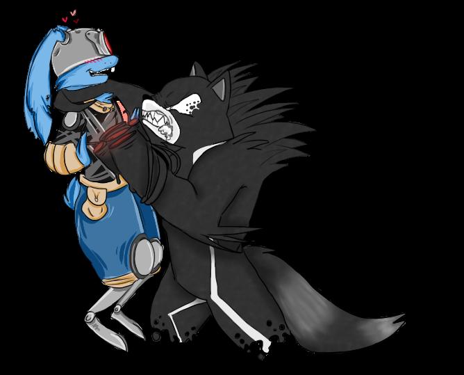BlackJack O'hare meets symbiote Rocket by Toxic-dolls