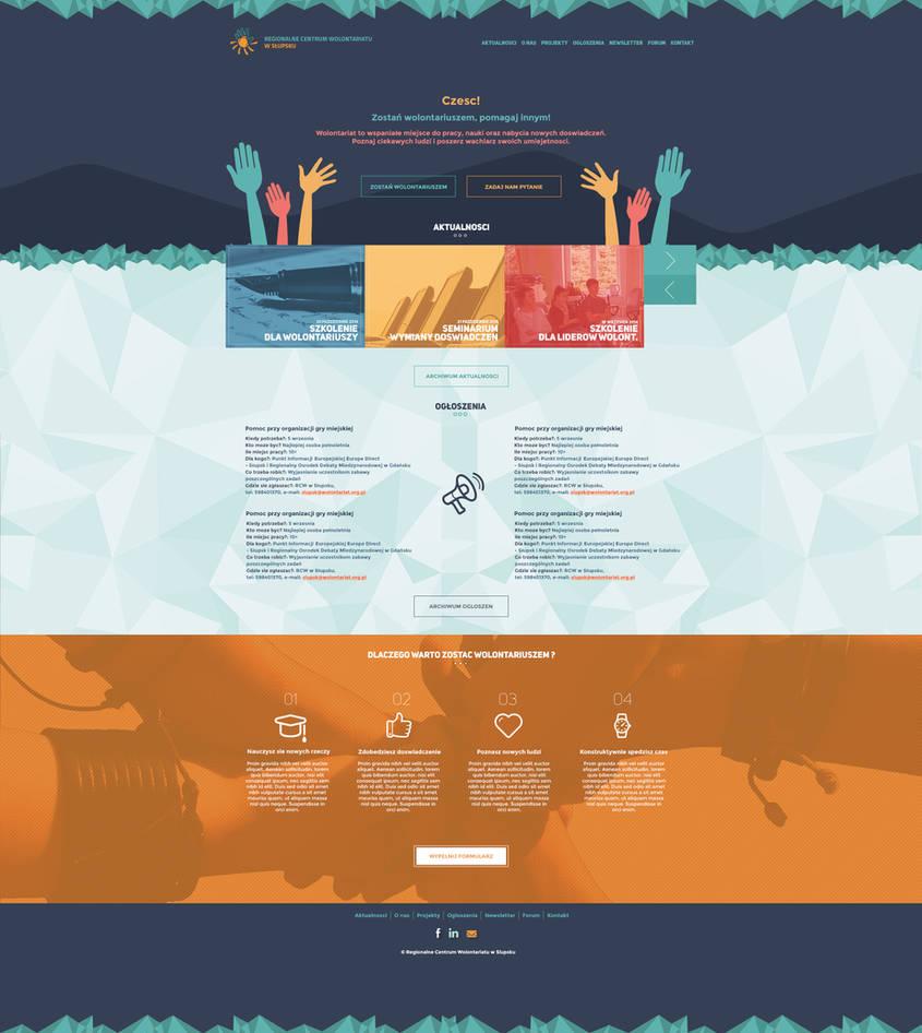 Web design for volunteer center by JanuszKoch on DeviantArt
