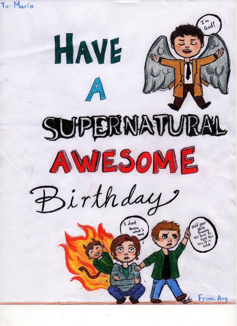 Supernatural Birthday Ecard networking administrator cover letter – Supernatural Birthday Card