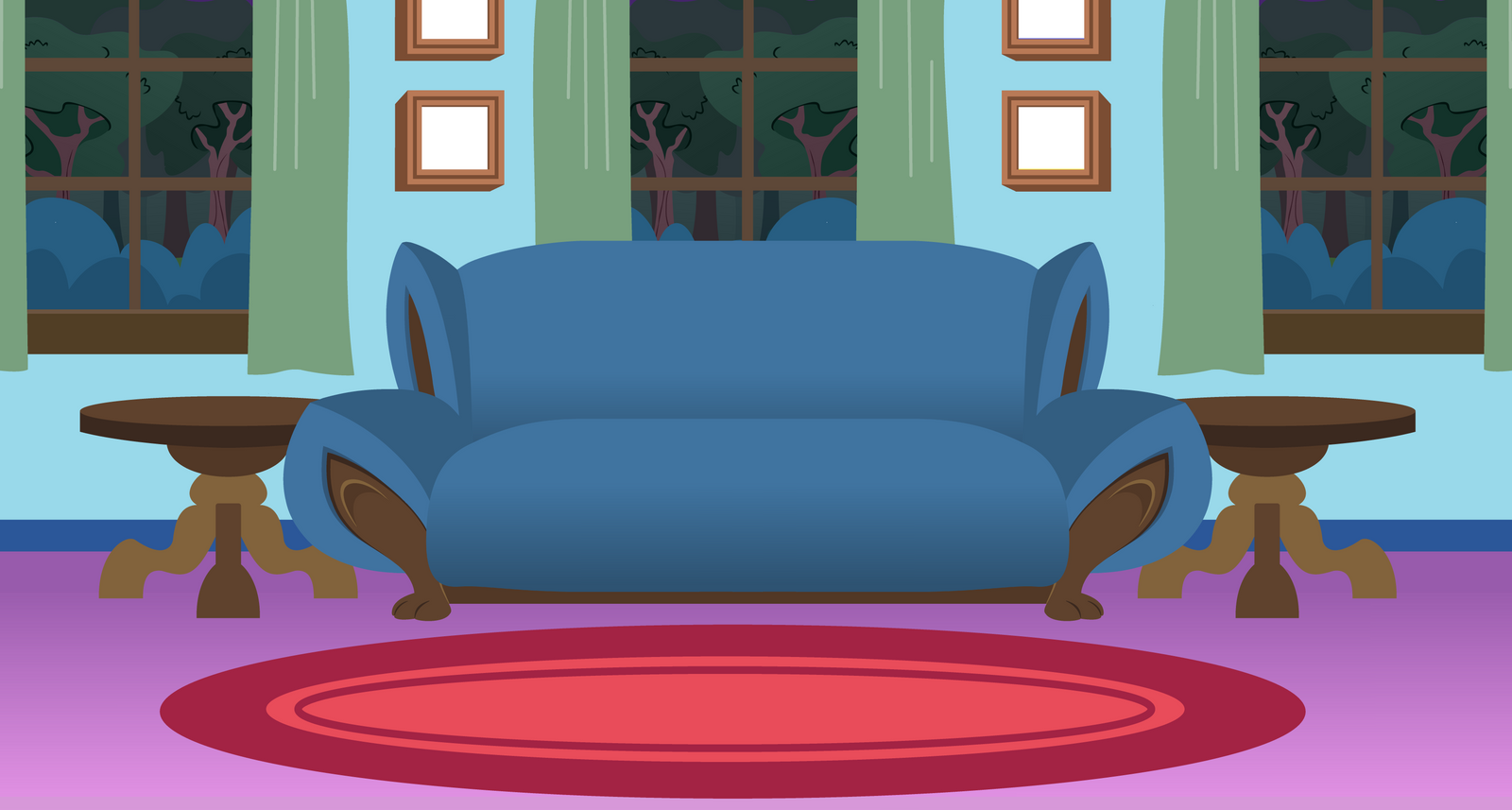 Frenzys Parants Living Room Background By Evilfrenzy On