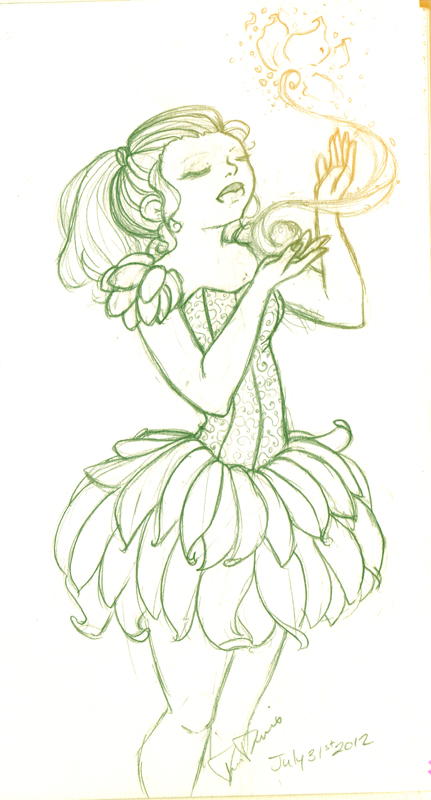 how to draw a fairy dress