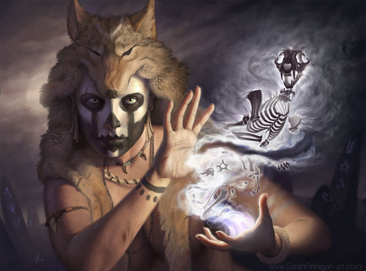 Apprentice Bone Summoner by sarahfinnigan