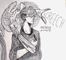 inktober day 9 - screech by echonidae
