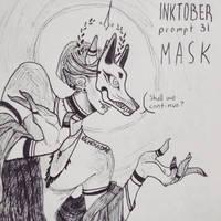 inktober day 31 - mask by echonidae