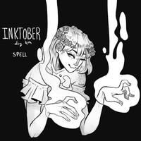 inktober 2018 day 4 - spell by echonidae