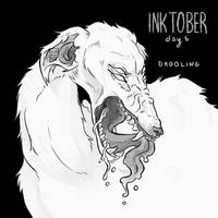 inktober 2018 day 6 - drooling by echonidae