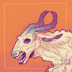goat-shaped creature with sharp sharp teeth