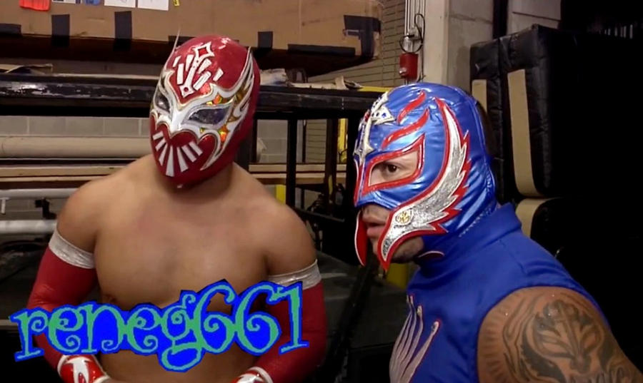Sin Cara And Rey Mysterio #1 by reneg661 on DeviantArt