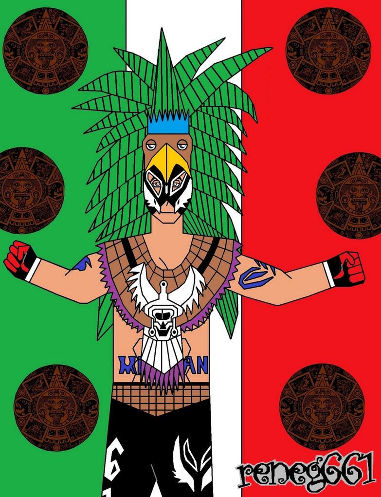 Rey Mysterio (Aztec) by reneg661