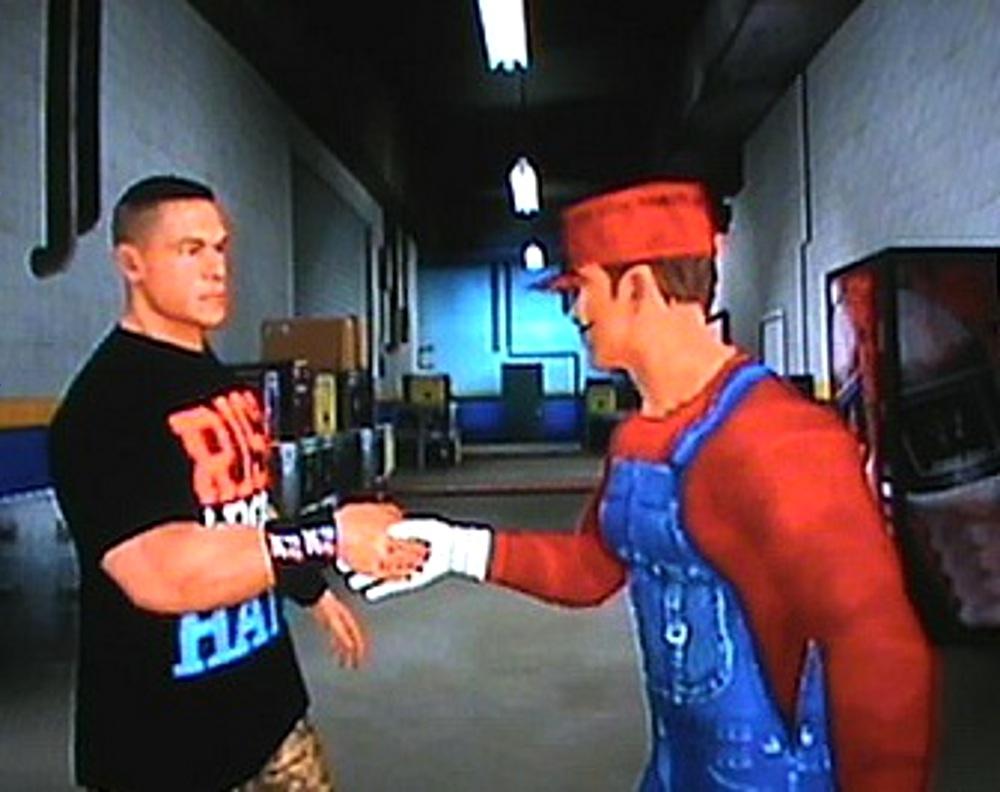 John Cena (WWE) And Mario (Nintendo) by reneg661